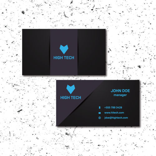 Business card and blank design